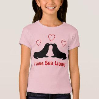 Camiseta Eu amo leões de mar - t-shirt