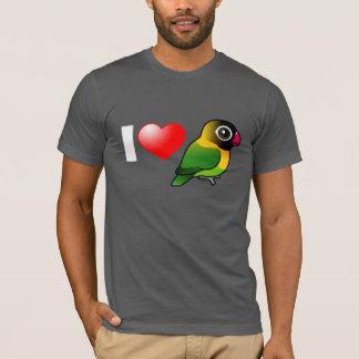 Camiseta Eu amo Lovebirds mascarados