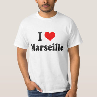 Camiseta Eu amo Marselha, France