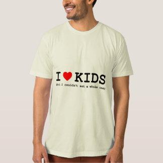 Camiseta Eu amo-me miúdos (mas não poderia comer inteiro)