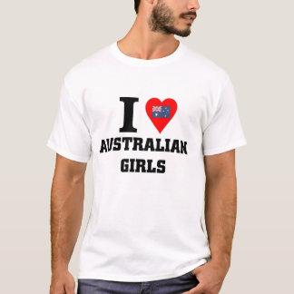 Camiseta Eu amo meninas australianas