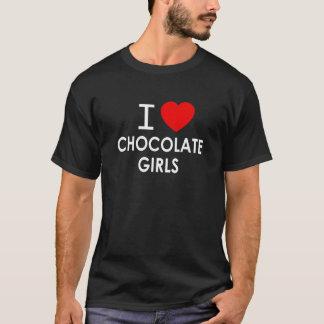 CAMISETA EU AMO MENINAS DO CHOCOLATE