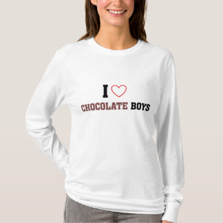Camiseta Eu amo meninos do chocolate