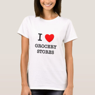 Camiseta Eu amo mercearias