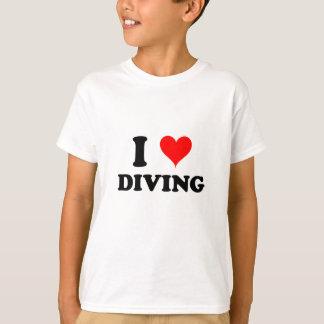 Camiseta Eu amo mergulhar