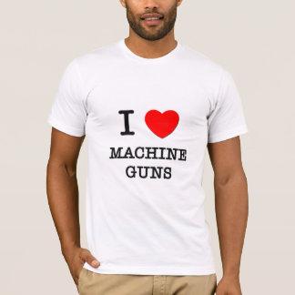Camiseta Eu amo metralhadoras