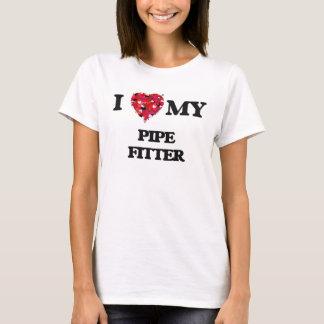 Camiseta Eu amo meu ajustador de tubulação