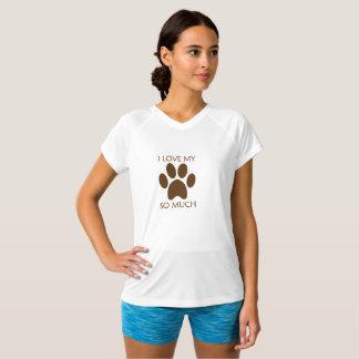 Camiseta Eu amo meu animal de estimação