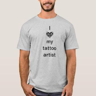 Camiseta Eu amo meu artista do tatuagem