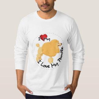 Camiseta Eu amo meu cão de caniche
