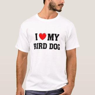 Camiseta Eu amo meu cão de pássaro