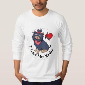 Camiseta Eu amo meu cão de Yorkie
