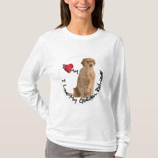 Camiseta Eu amo meu cão do golden retriever