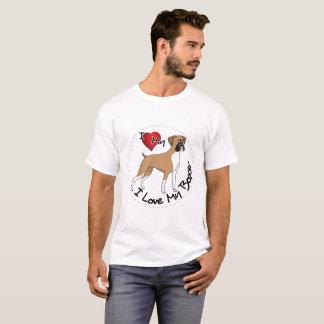 Camiseta Eu amo meu cão do pugilista