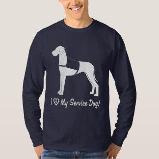 Camiseta Eu amo meu cão do serviço de great dane!