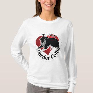 Camiseta Eu amo meu cão engraçado & bonito adorável de