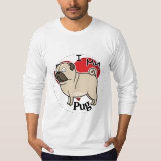 Camiseta Eu amo meu cão engraçado & bonito adorável feliz