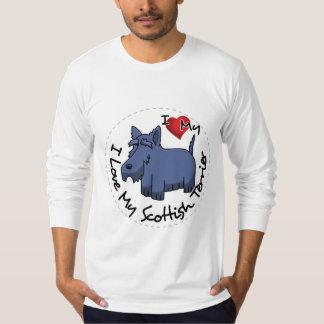 Camiseta Eu amo meu cão escocês de Terrier