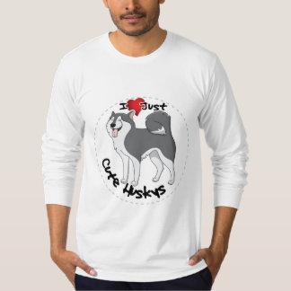 Camiseta Eu amo meu cão ronco engraçado & bonito adorável