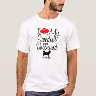 Camiseta Eu amo meu cão sueco de Vallhund