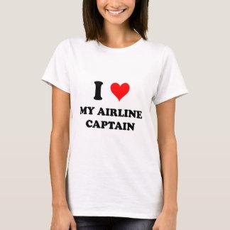 Camiseta Eu amo meu capitão da linha aérea
