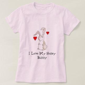 Camiseta Eu amo meu coelho do mel