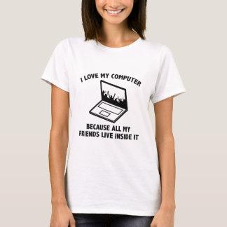 Camiseta Eu amo meu computador