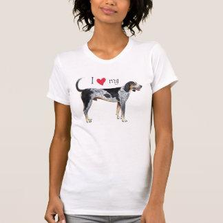 Camiseta Eu amo meu Coonhound de Bluetick