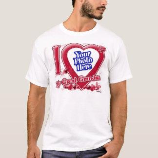 Camiseta Eu amo meu coração vermelho da grande avó - foto