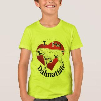 Camiseta Eu amo meu Dalmatian engraçado & bonito adorável