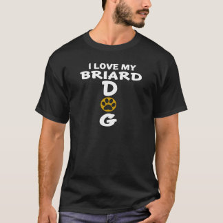 Camiseta Eu amo meu design do cão de Briard