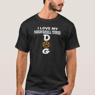 Camiseta Eu amo meu design do cão de Russell Terrier do