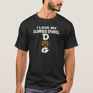 Camiseta Eu amo meu design do cão do Spaniel de Clumber