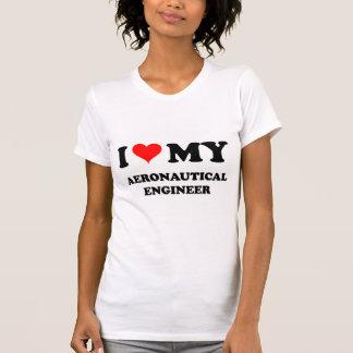 Camiseta Eu amo meu engenheiro aeronáutico