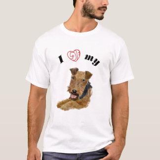 Camiseta Eu amo meu galês Terrier