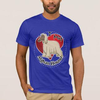 Camiseta Eu amo meu galgo afegão engraçado & bonito