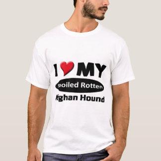 Camiseta Eu amo meu galgo afegão podre estragado