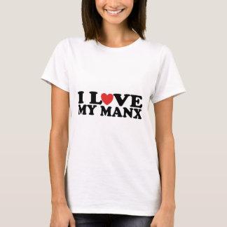 Camiseta Eu amo meu gato Manx