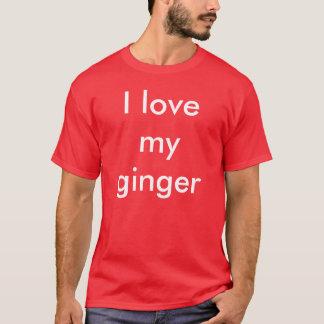 Camiseta Eu amo meu gengibre