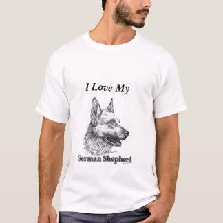 Camiseta Eu amo meu german shepherd