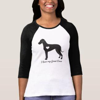 Camiseta Eu amo meu great dane