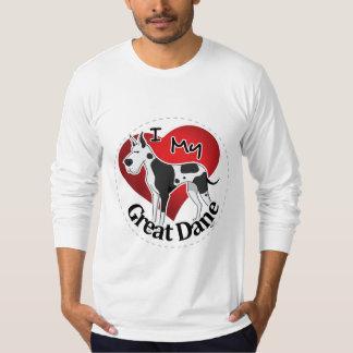 Camiseta Eu amo meu great dane engraçado & bonito adorável