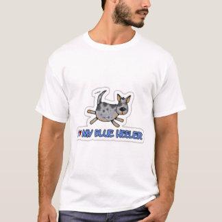 Camiseta Eu amo meu Heeler azul