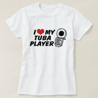 Camiseta Eu amo meu jogador da tuba