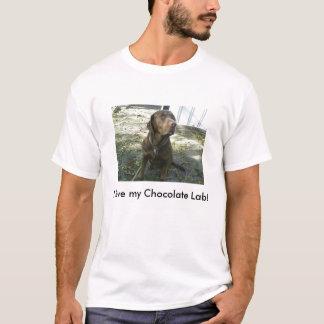 Camiseta Eu amo meu laboratório do chocolate!