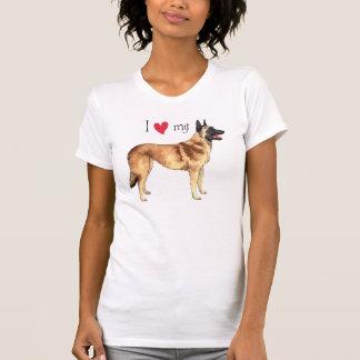 Camiseta Eu amo meu Malinois belga