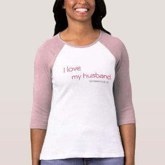 Camiseta Eu amo, meu marido., o 5:22 de Ephesians - 23