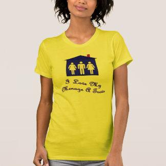 Camiseta Eu amo meu menage trois