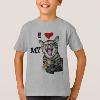 Camiseta Eu amo meu modelo customizável do gato