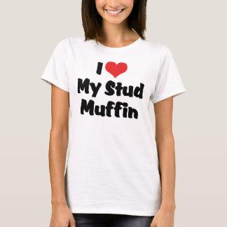 Camiseta Eu amo meu muffin do parafuso prisioneiro